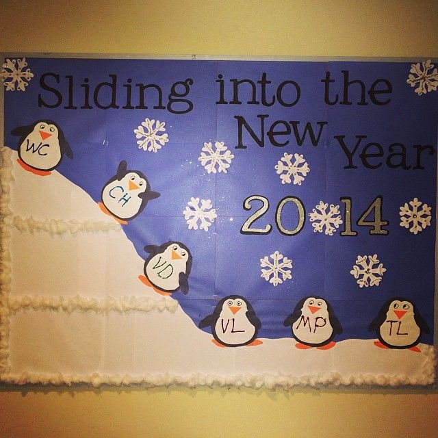 Sliding Into The New Year 2014 Bulletin Board | School ...