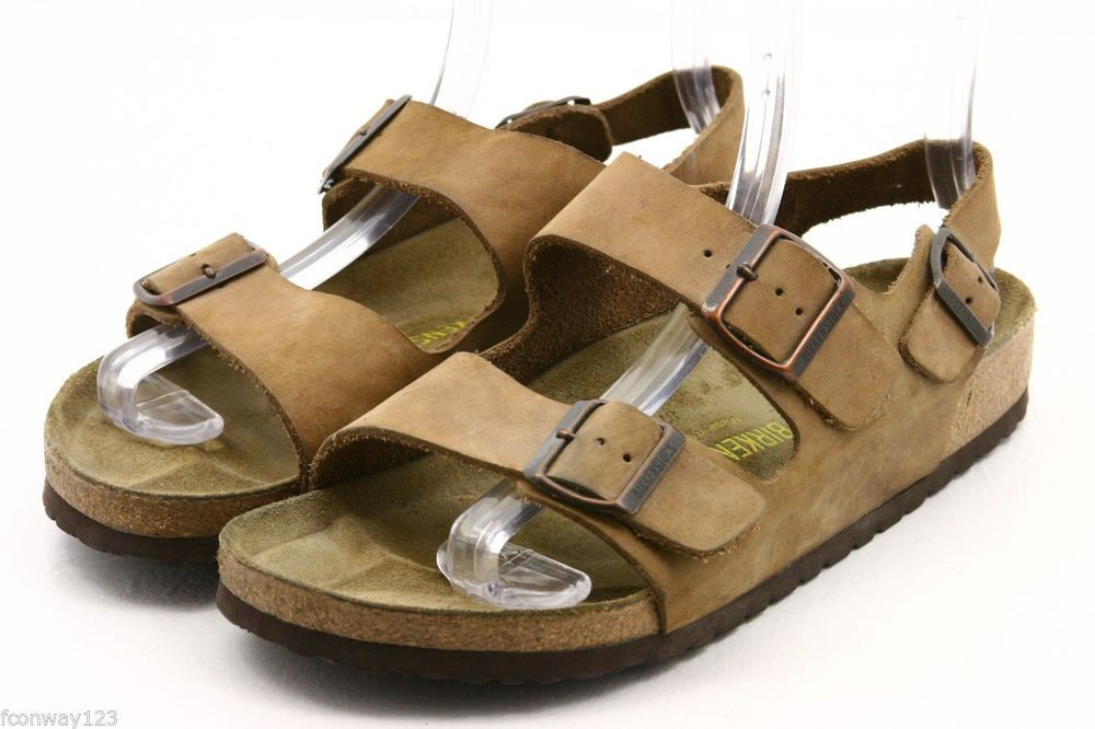 Birkenstock Milano Womens Sandals Size 40 9 brown nubuck leather ankle strap EUC #Birkenstock #AnkleStrap @eBay #sandals #style #fashion