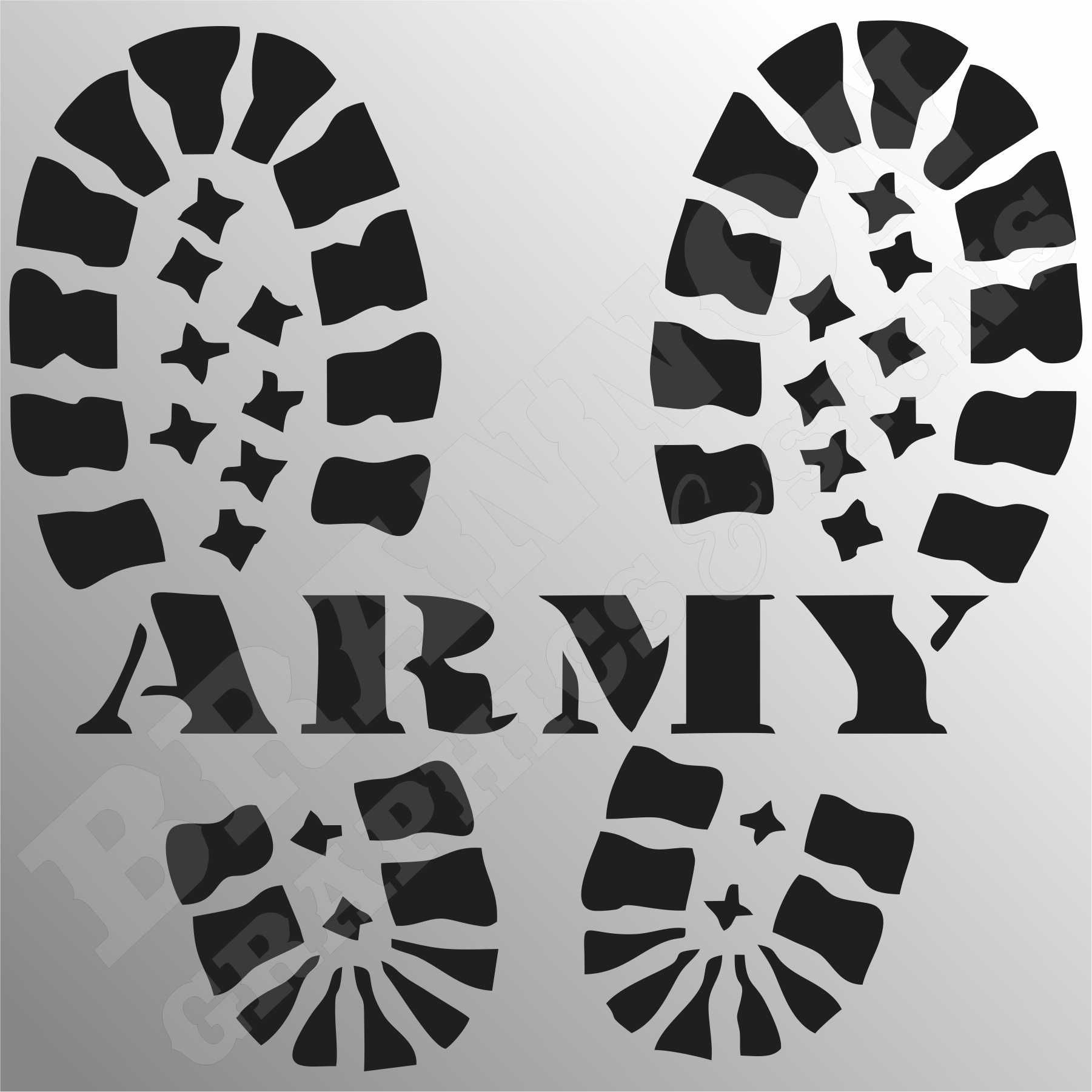 Army Boot Print Logo Military Themed Design That Can Be Made Into Decals Signs Or T Shirts Fully Customizable Let Army Decor Us Army Logo Military Logo