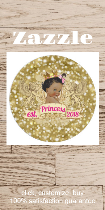 African Princess Pink and Gold Glitter Plates | Zazzle.com #goldglitterbackground