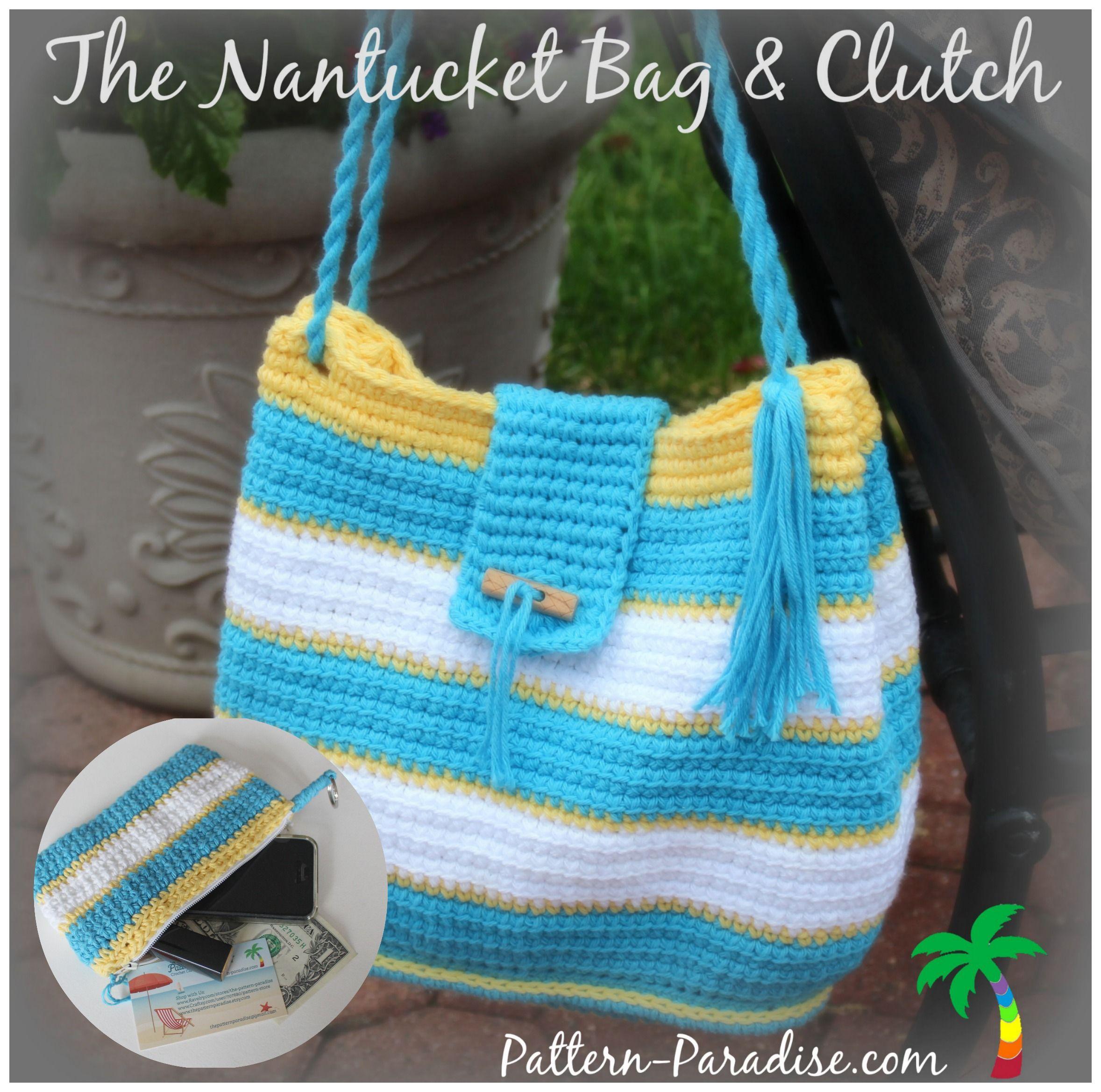 NEW Crochet Pattern - The Nantucket Bag - Pattern Paradise