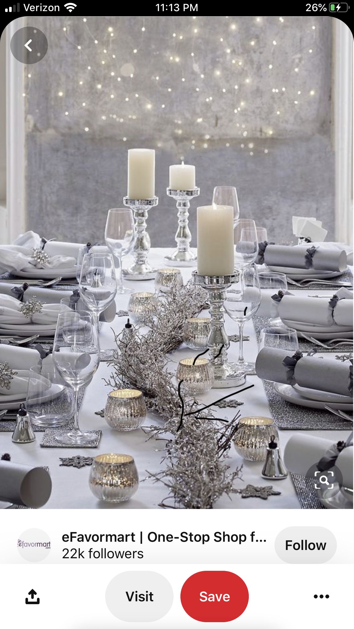 Pin By Debbie Cranwell On Christmas Decorations Silver Christmas Decorations Christmas Table Settings White Christmas Decor