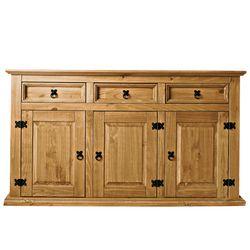 buffet 3 portes 3 tiroirs el patio vente de buffet bahut vaisselier conforama. Black Bedroom Furniture Sets. Home Design Ideas