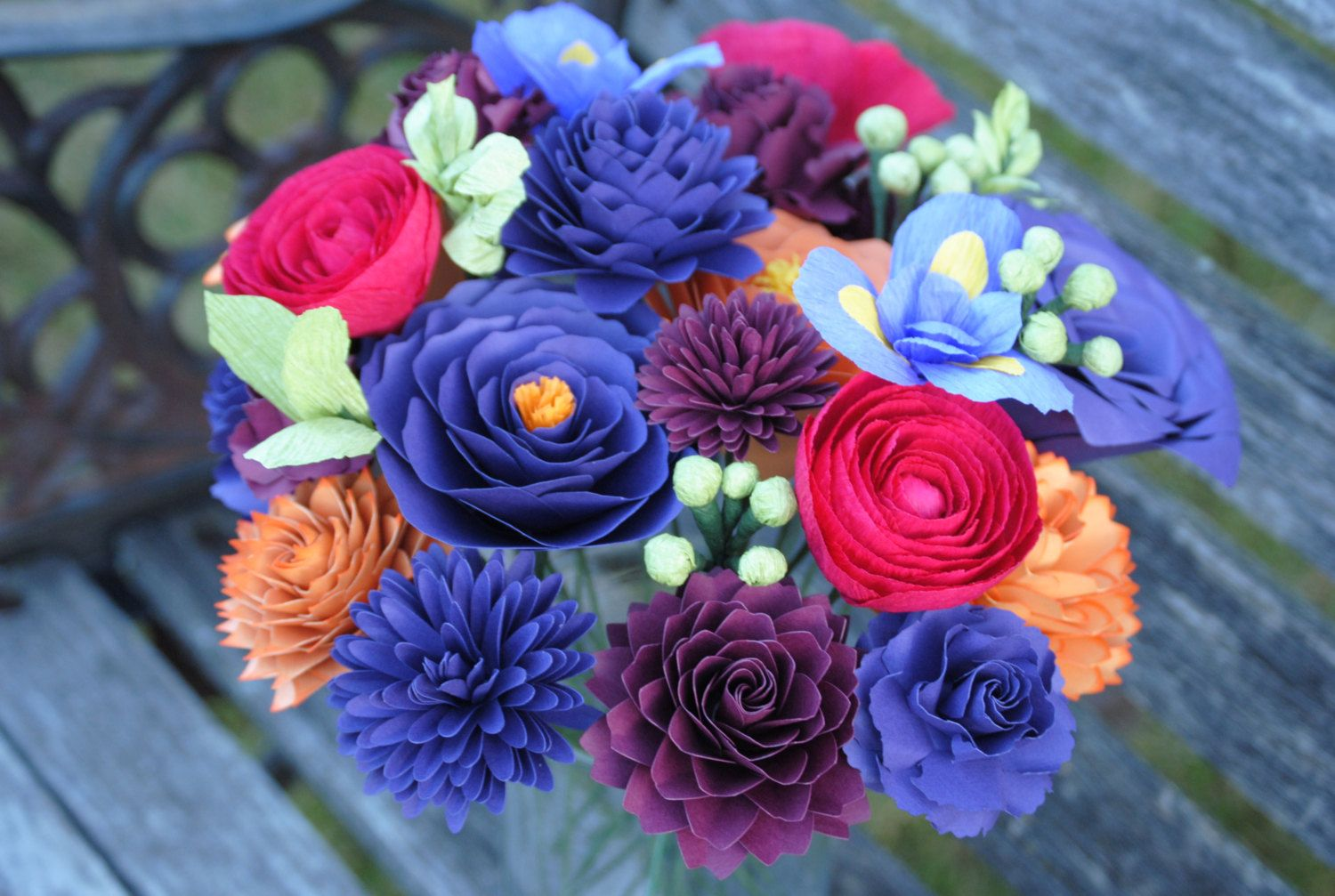 Wildflower Bouquet Paper Flowers Perfect for First Anniversary