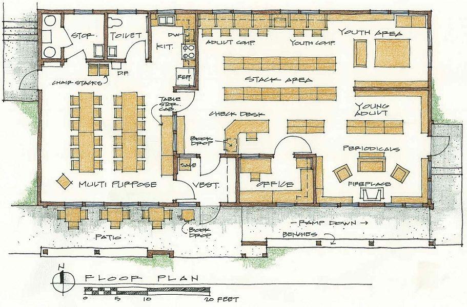 Small Library Floor Plans Library Floor Plans Http Www Elon Edu E Web Library Libraryinfo Map Library Floor Plan Library Plan Public Library Architecture