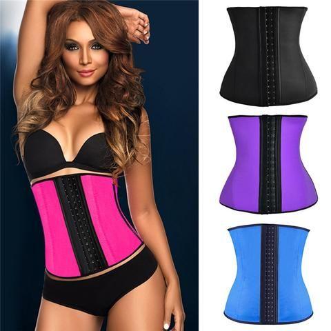 4a3ccefecb9 Hot Sexy Womens Waist Trainers Corset Neoprene Latex Body Shaper Ladies  Slimming Belt Modeling Strap Shapewear Waist Cincher