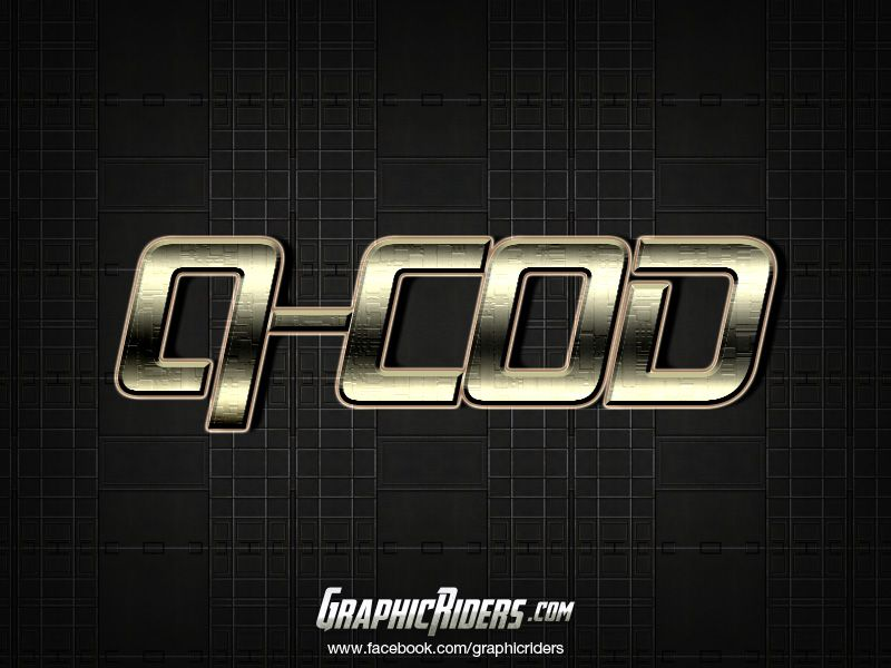 Sci-fi style Q Cod | Free photoshop layer style, text effect.  #graphicriders