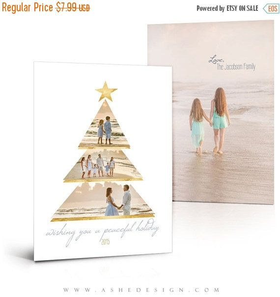 Christmas Card Templates  Gold Foil Holiday  X Flat Press