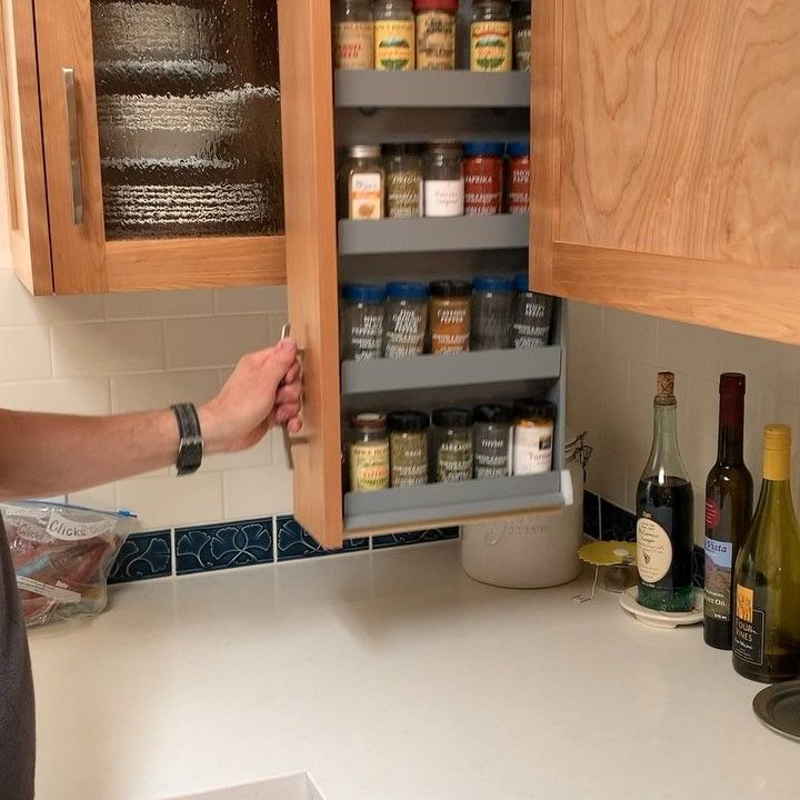 Dropdown Spice Rack Drawer Lets You Easily Access
