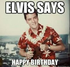 Elvis Birthday Card