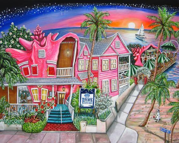 Louie's Backyard - Key West Florida - Print | Key west ...