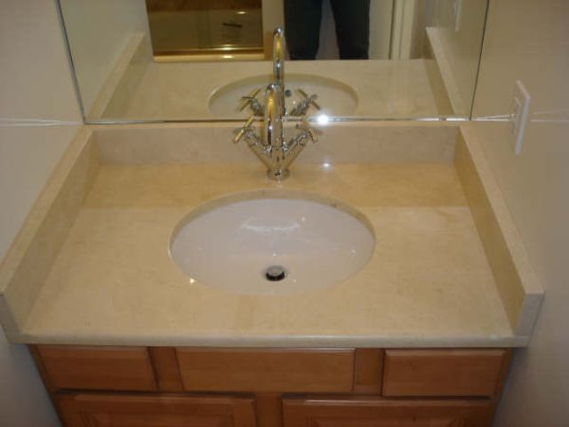 Crema Marfil Marble Vanity Top Powder Room Marble Vanity Tops Vanity Powder Room
