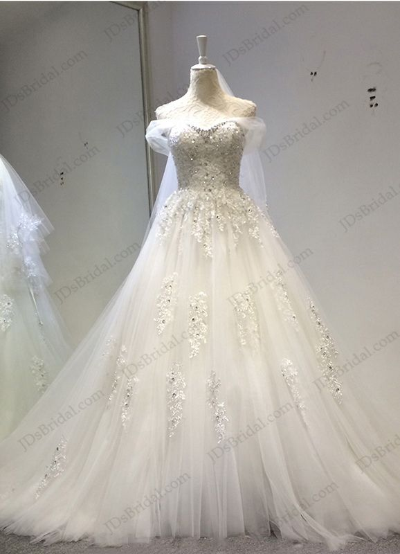 Jw16202 Fairy Tale Crystal Details Sweetheart Neckline Princess Ball Gown Wedding Dress