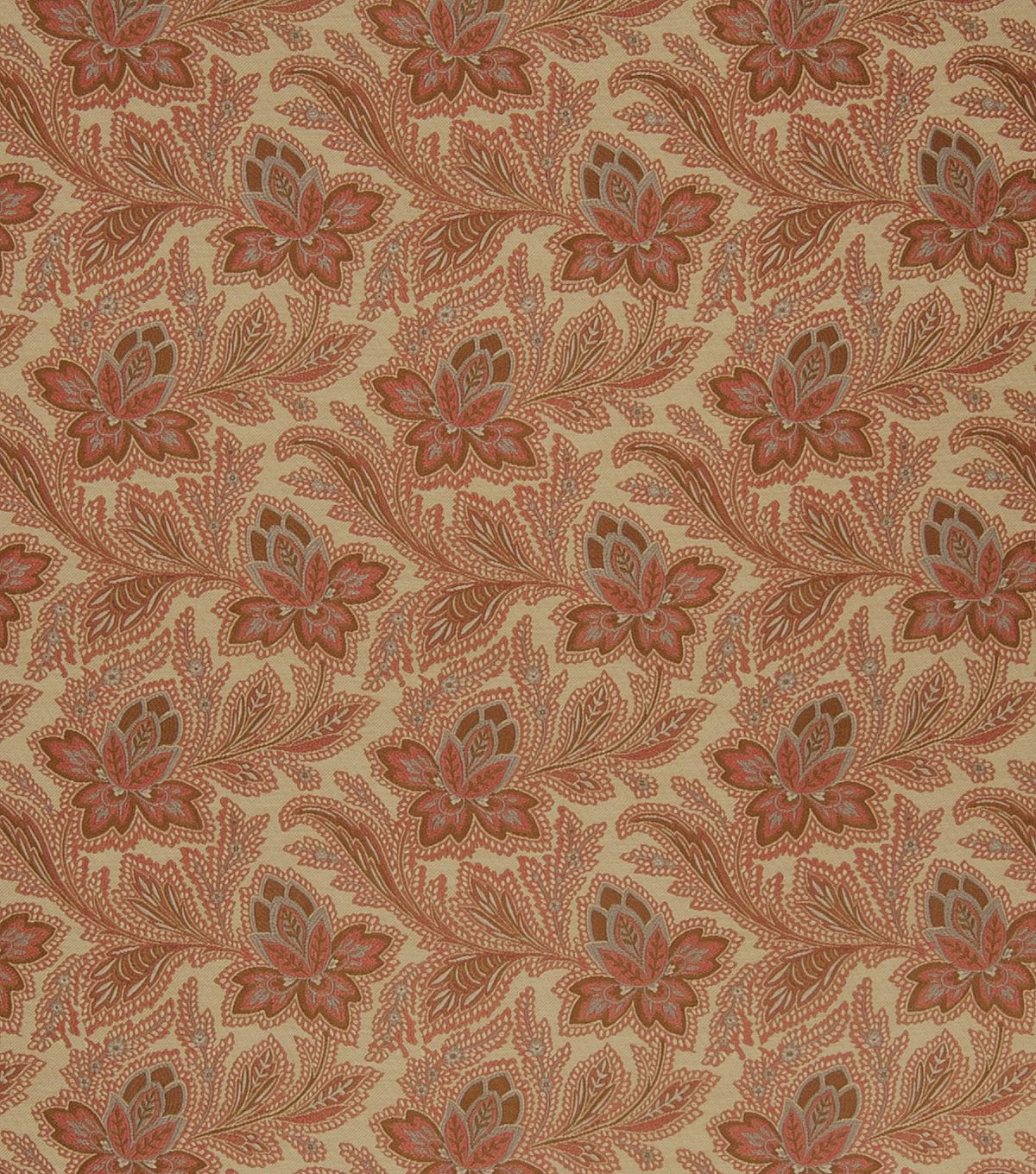 French General Upholstery Fabric-General/Rouge