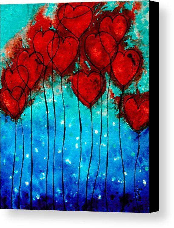 Hearts on Fire - Romantic Art By Sharon Cummings C