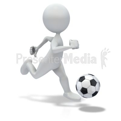 Stick Figure Dribbling Soccer Ball Sports And Recreation Great Clipart For Presentations Stick Figures Powerpoint Clip Art Clip Art