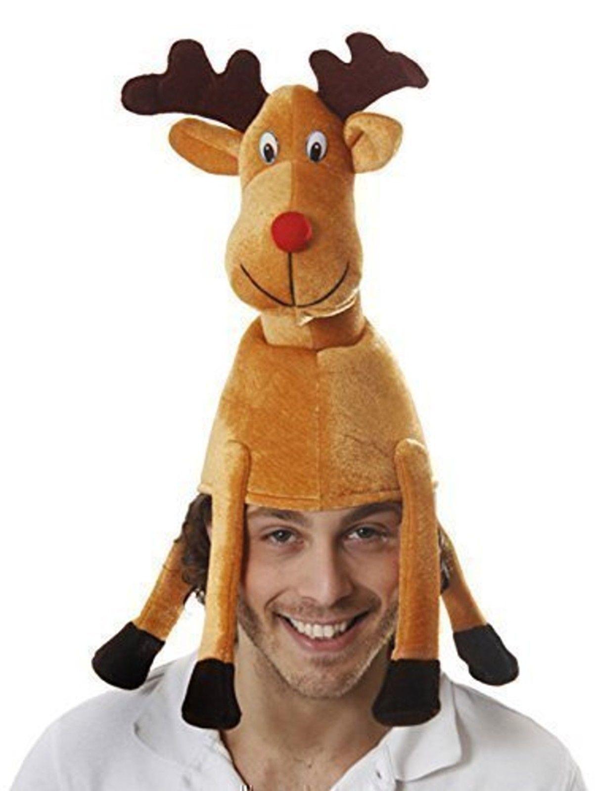 07612ee9624 Christmas Reindeer Adult S Novelty Hat. Christmas Reindeer Adult S Novelty  Hat Novelty Hats