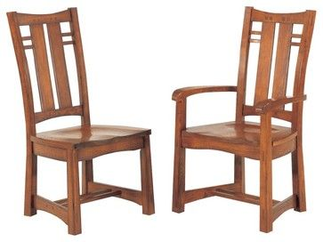 GS Furniture Bungalow Wood Dining Arm Chair