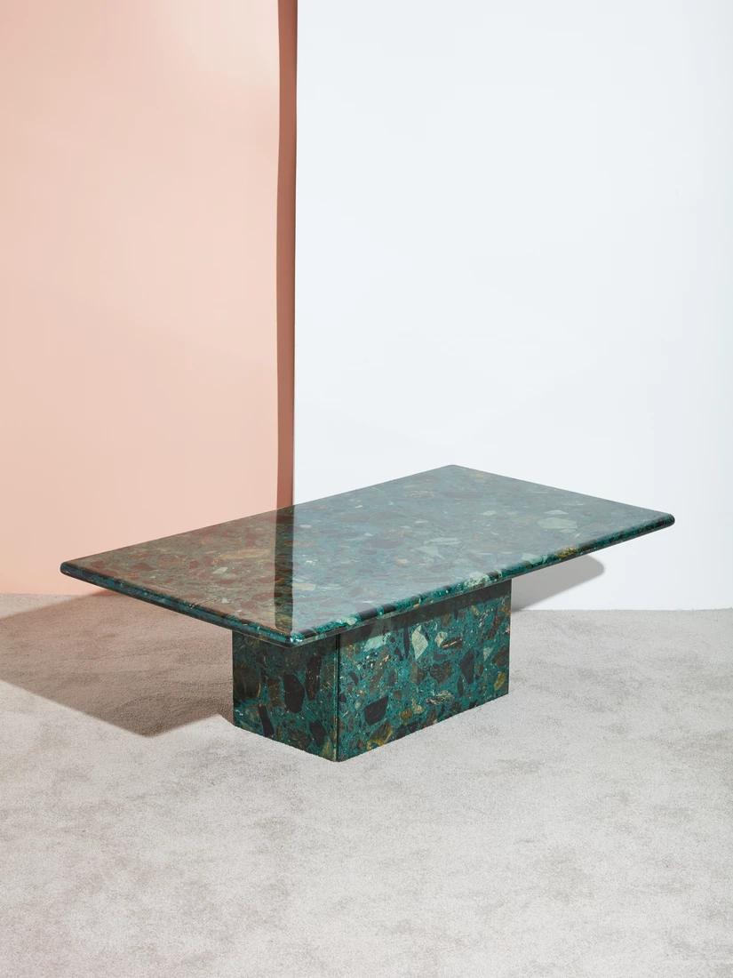Green Terrazzo Coffee Table Coming Soon Coffee Table Stone Coffee Table Table