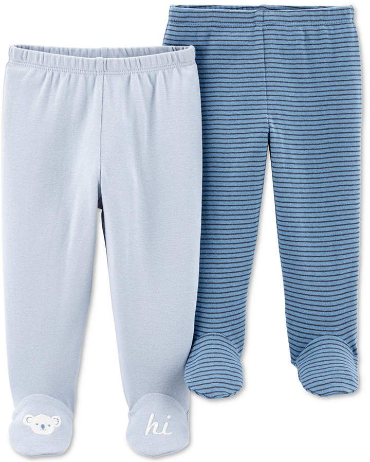 Carters Baby Boys 2-Pack Cotton Footed Pajamas