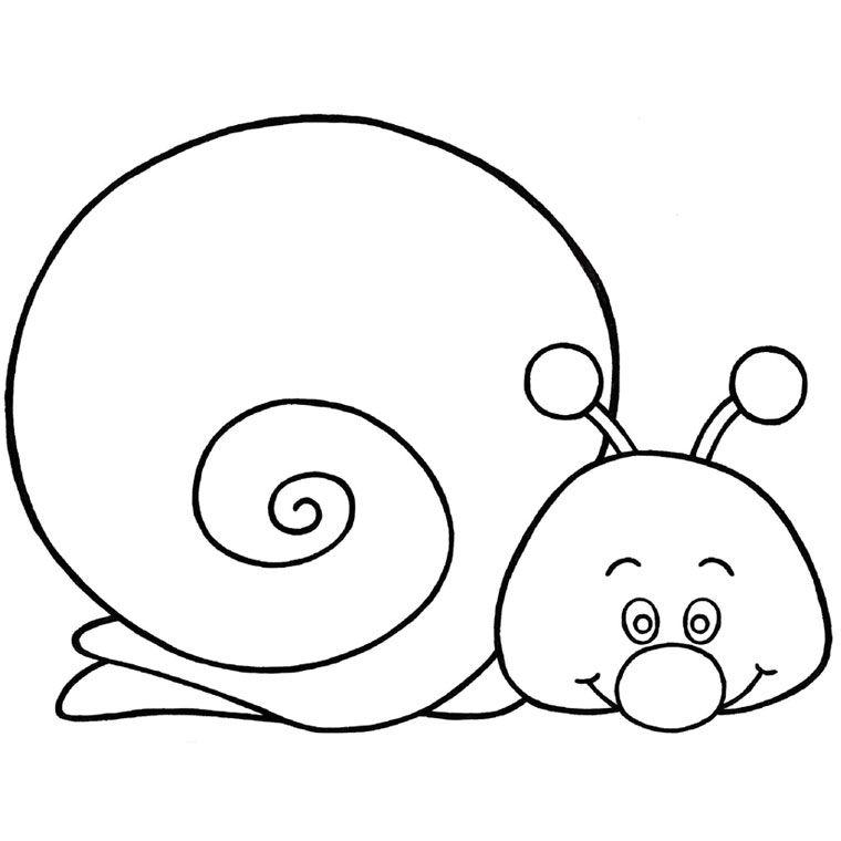 Coloriage Escargot Rigolo A Imprimer Gratuit Automne Coloriage