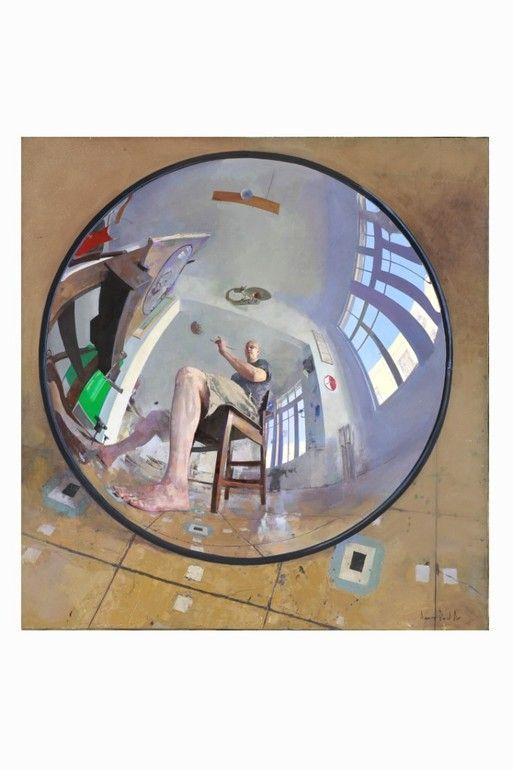 Self Portrait in Convex Mirror, Amnon David  Ar