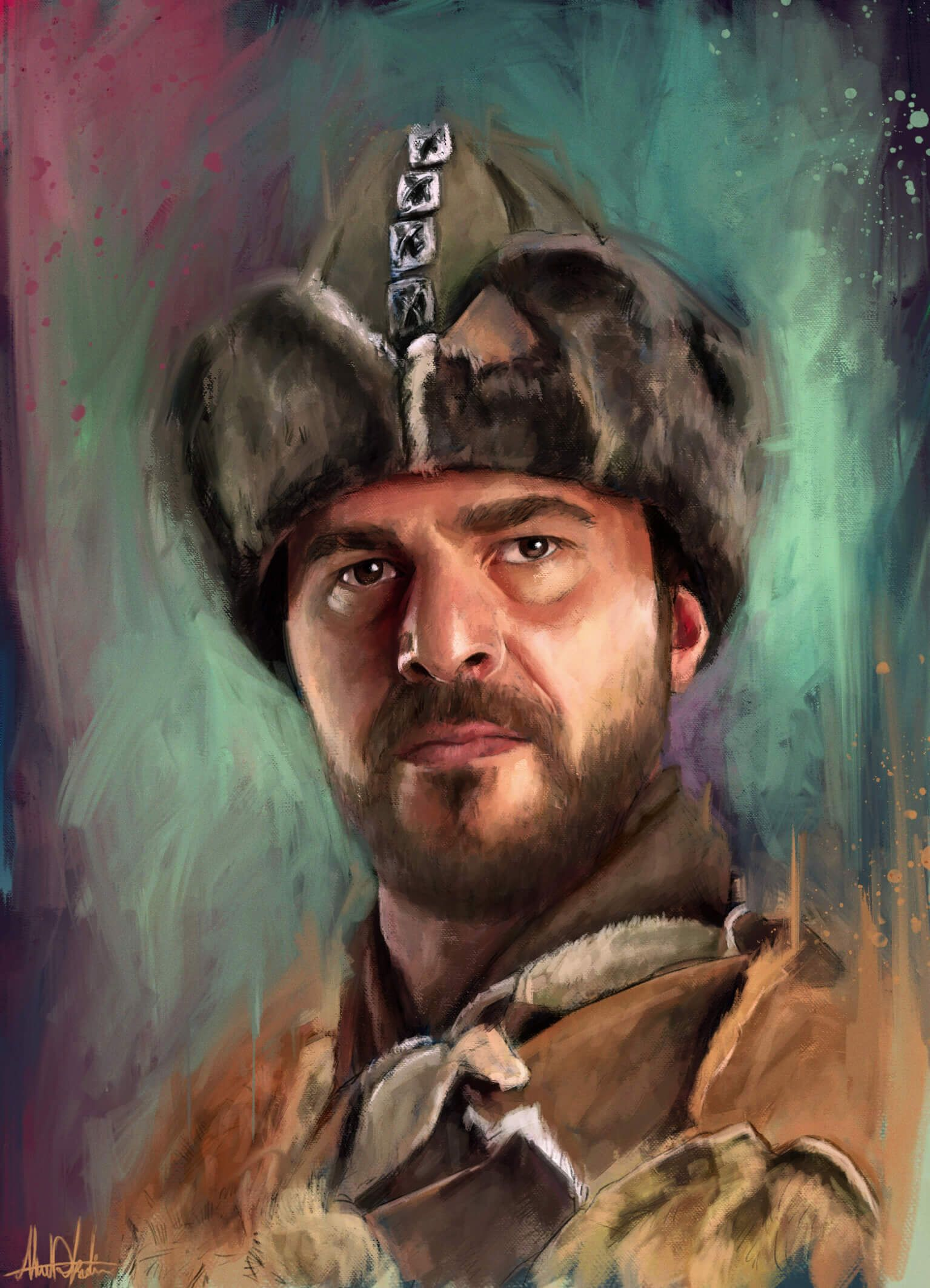 Ertuğrul sketch for sale looks like modern oil painting i start with rough sketching or pencil drawing then use wacom and photoshop my favorite art