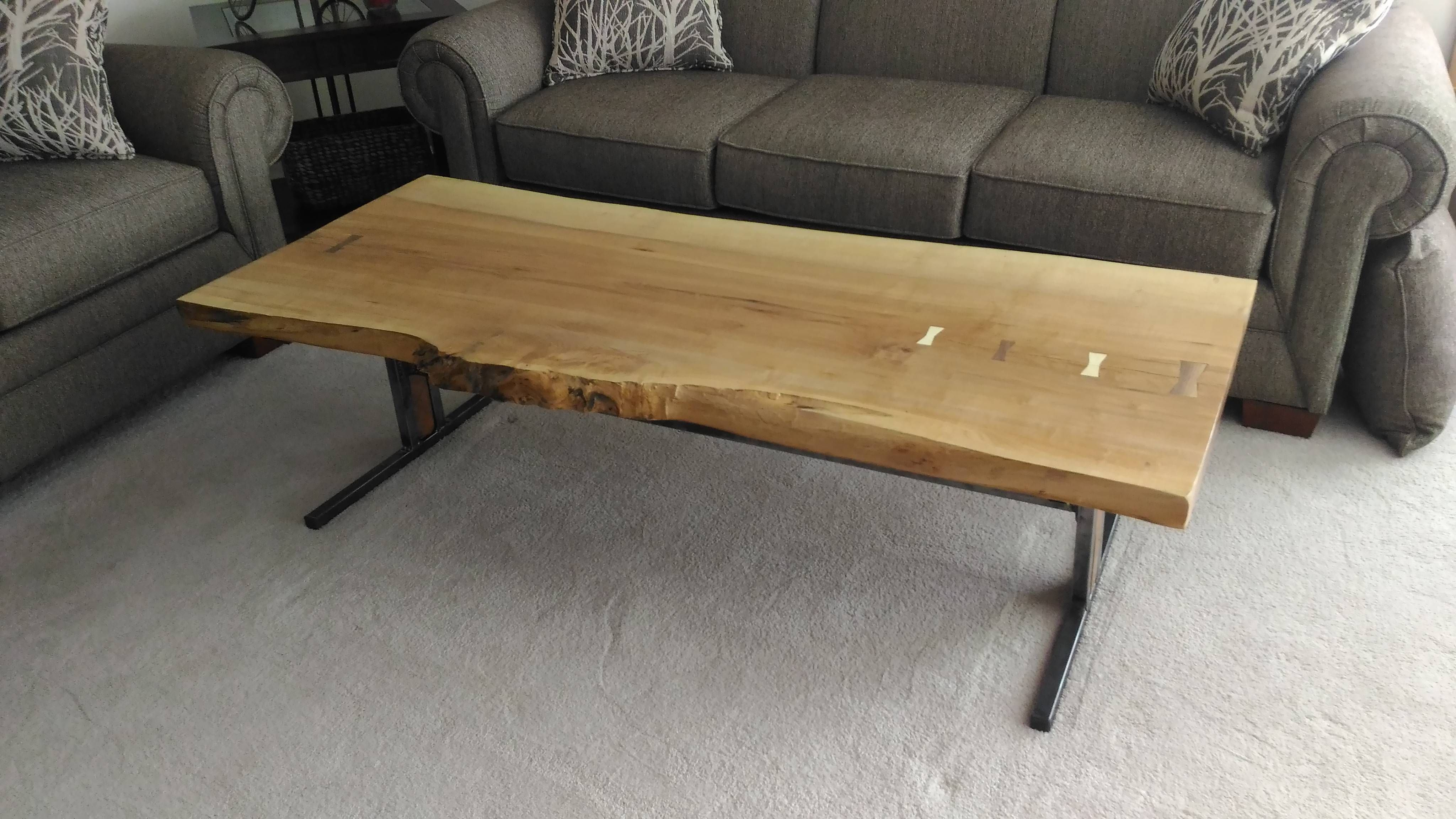 Ash Slab Wood Table From Scratch QuickCrafter