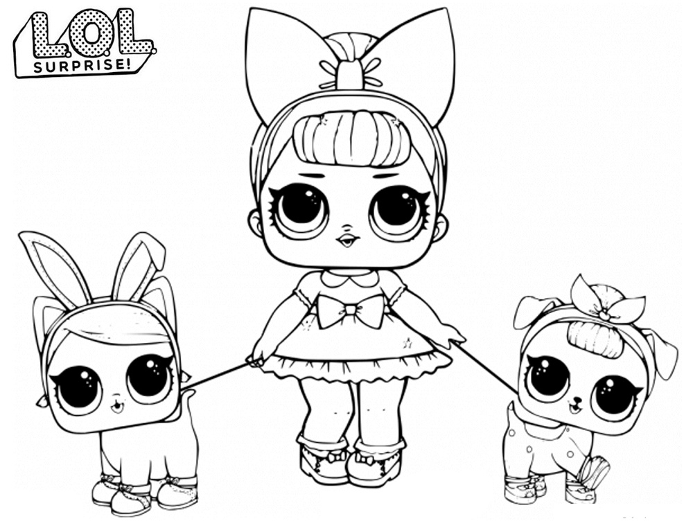 Lil Dawn Series 3 Wave 2 L.O.L Surprise Doll Coloring Page