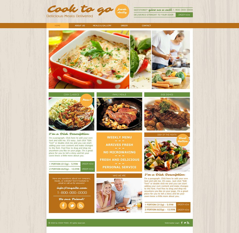 Cooking Wix Website Template | Template and Website