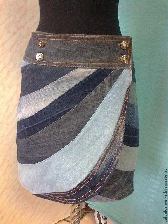 Интересная джинсовая юбка