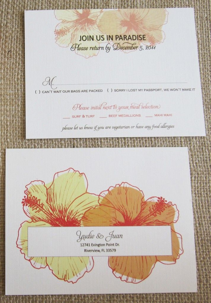 RSVP Card Insight & Etiquette Wedding invitation samples