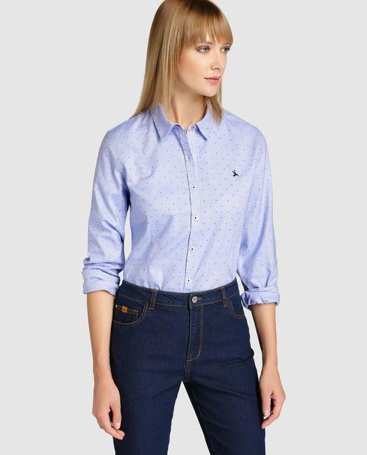 6a852ffa7fef Camisa oxford de mujer Lloyd's con estampado | Cosas que comprar ...