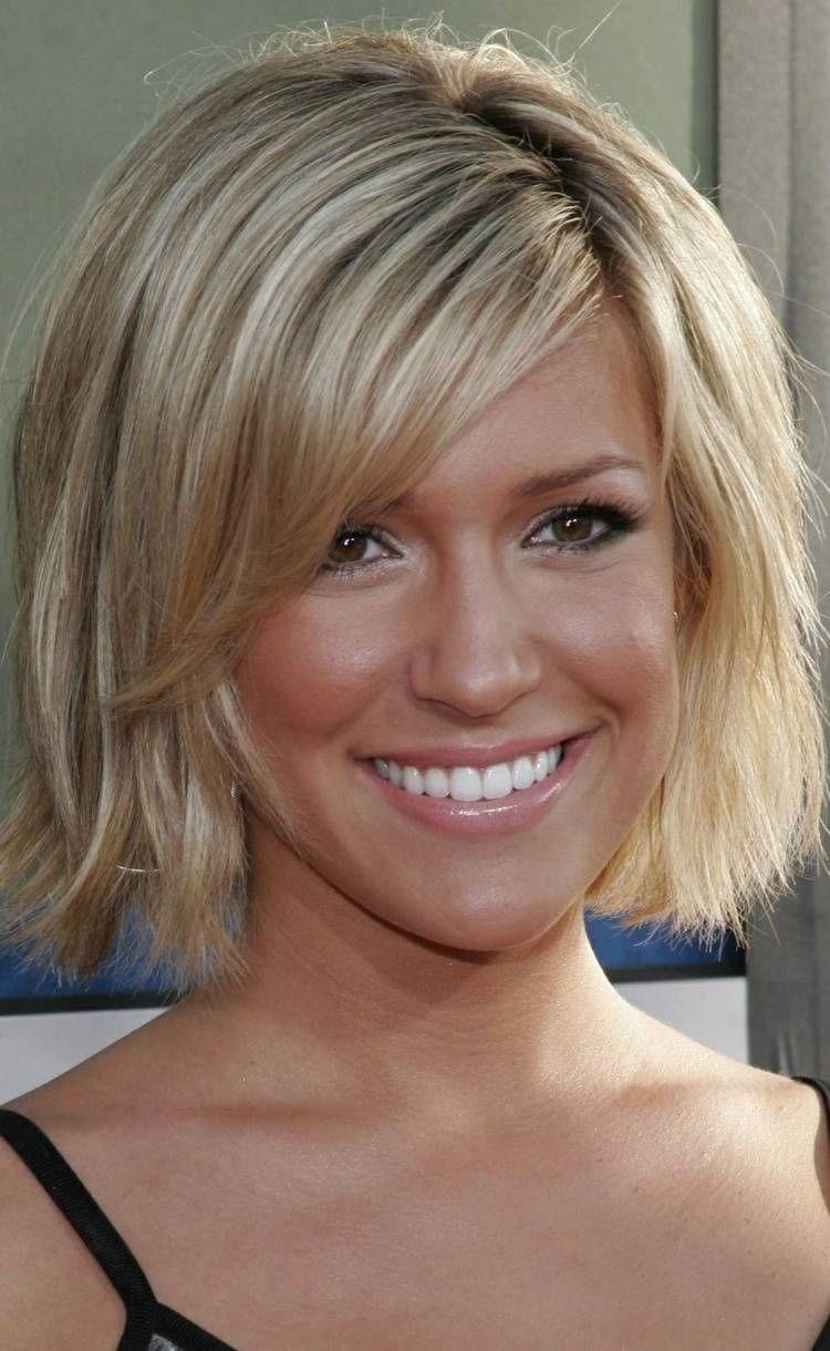 Blond haar halblang