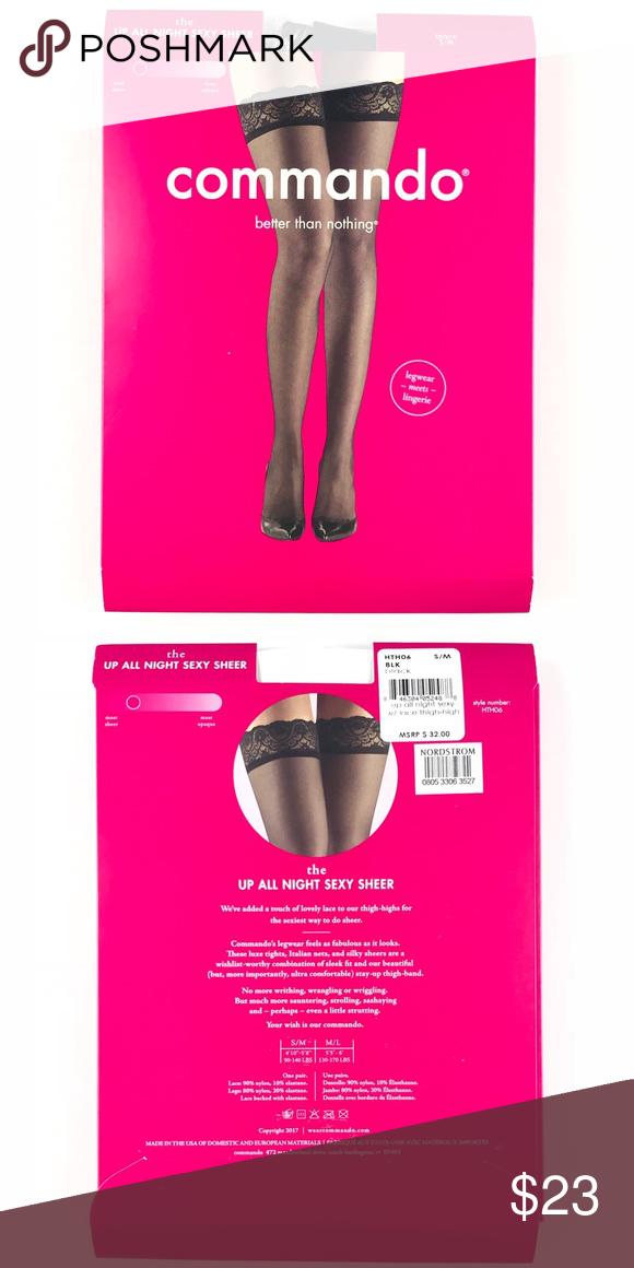 0186b90693 Commando Women Up all night sexy sheer Black AU11 Commando Accessories  Hosiery   Socks