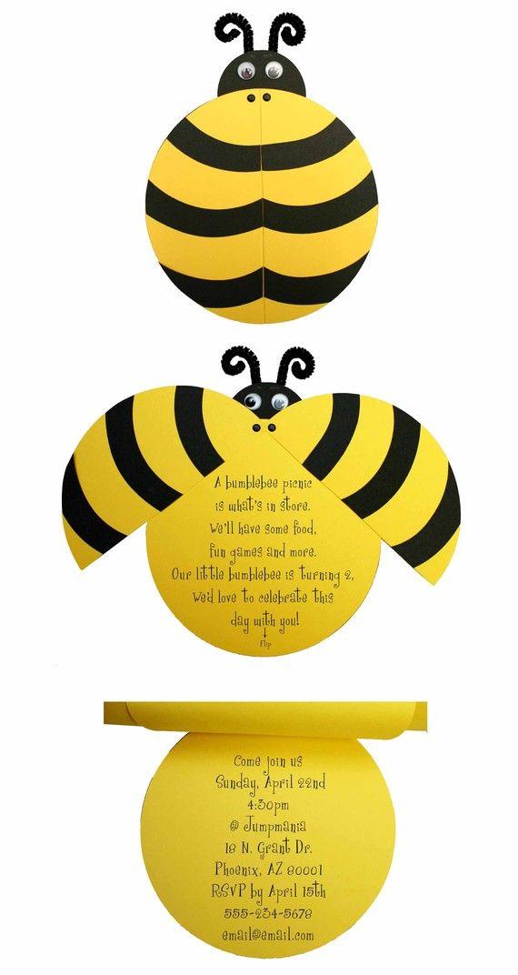 Convite Abelha Bee Party Pinterest Invitations Bee Crafts