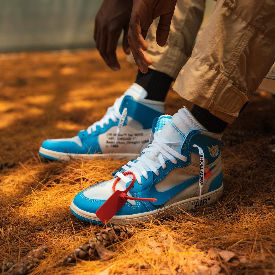 air jordan 1 off white university blue