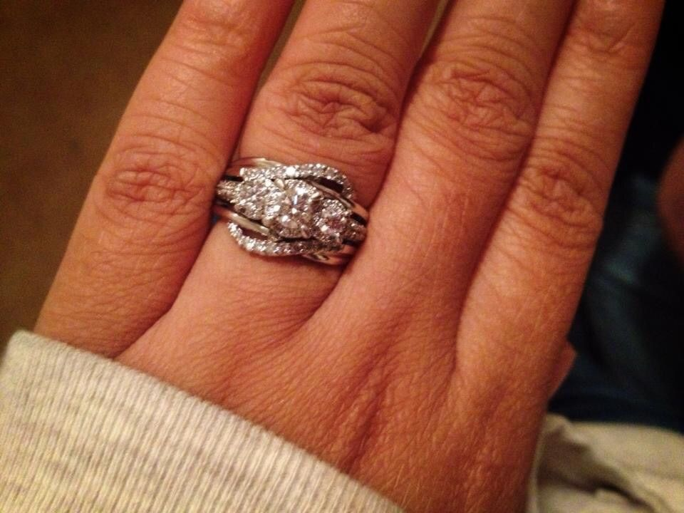 enhancer for a 3 stone ring - Wedding Ring Enhancer