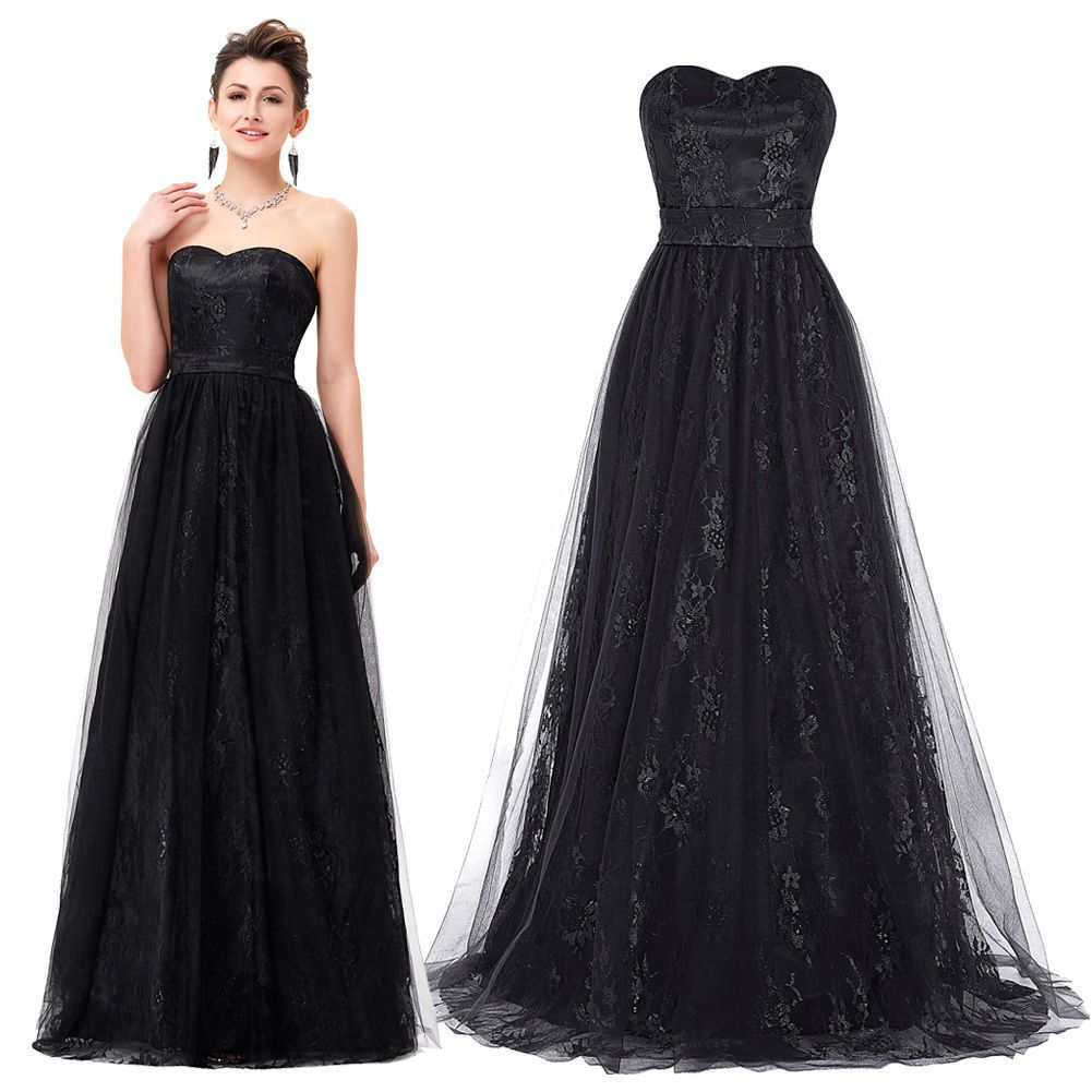 Womens long evening ball prom gowns formal cocktail party bridesmaid