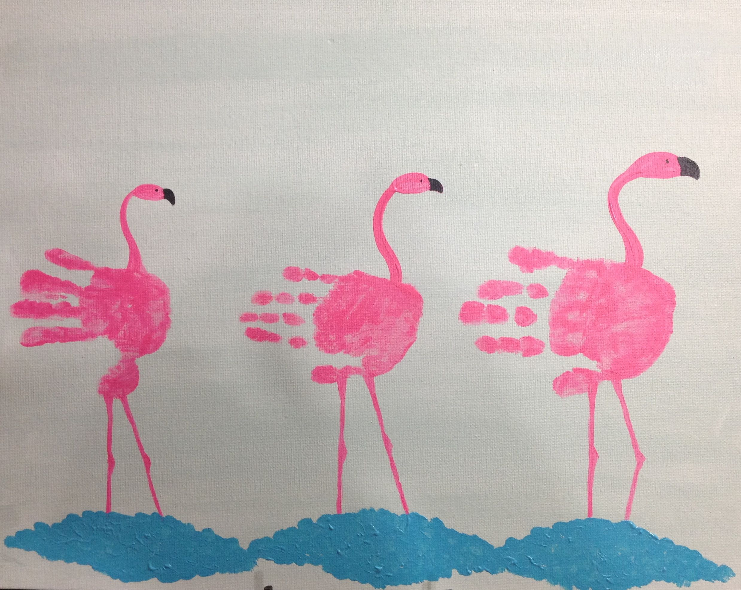 Handprint Flamingos (Diy Gifts For Toddlers) | DIY gifts | Pinterest ...
