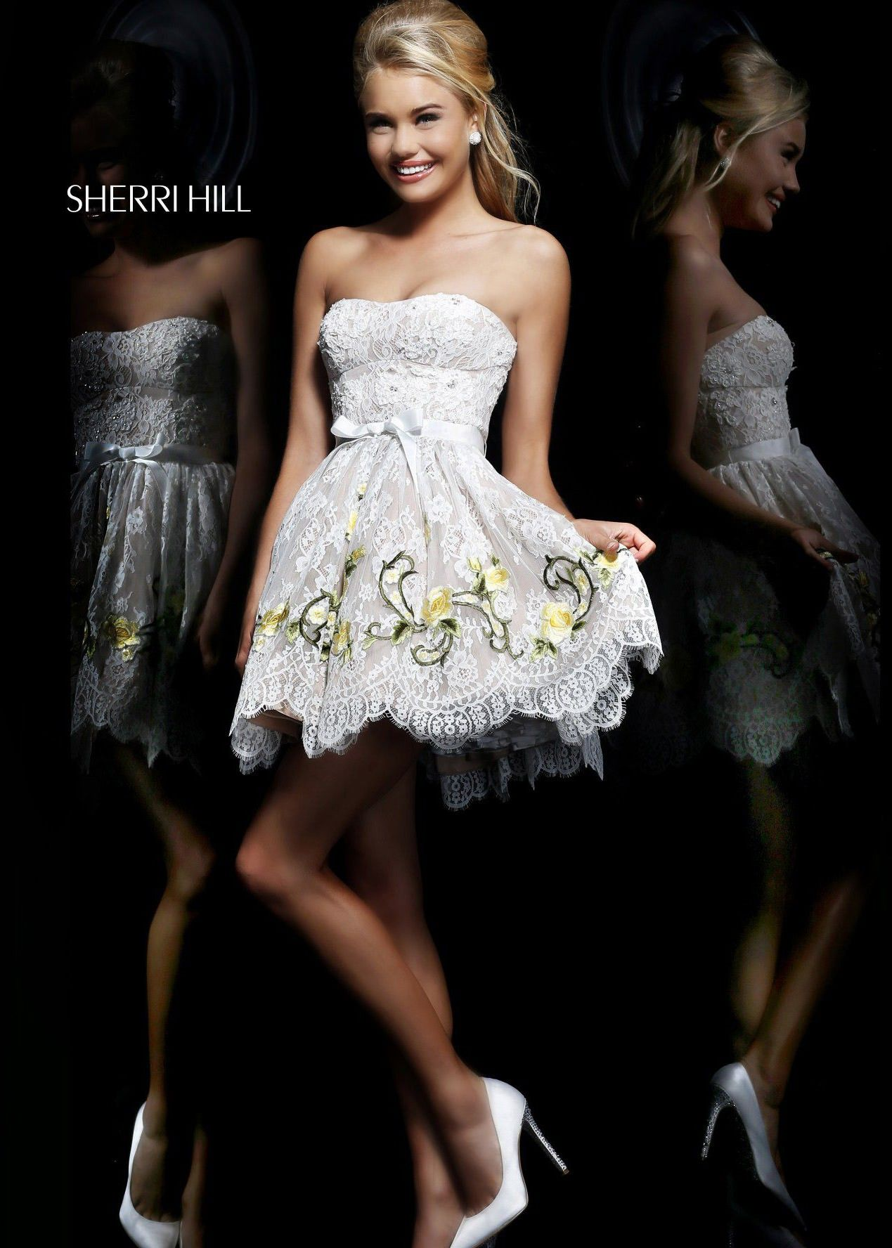 Sherri hill short party dress grad party pinterest