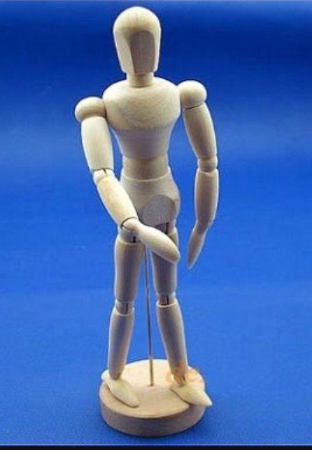 Manequin Estilo Boneco Articulado De Desenho Tamanho Real Para