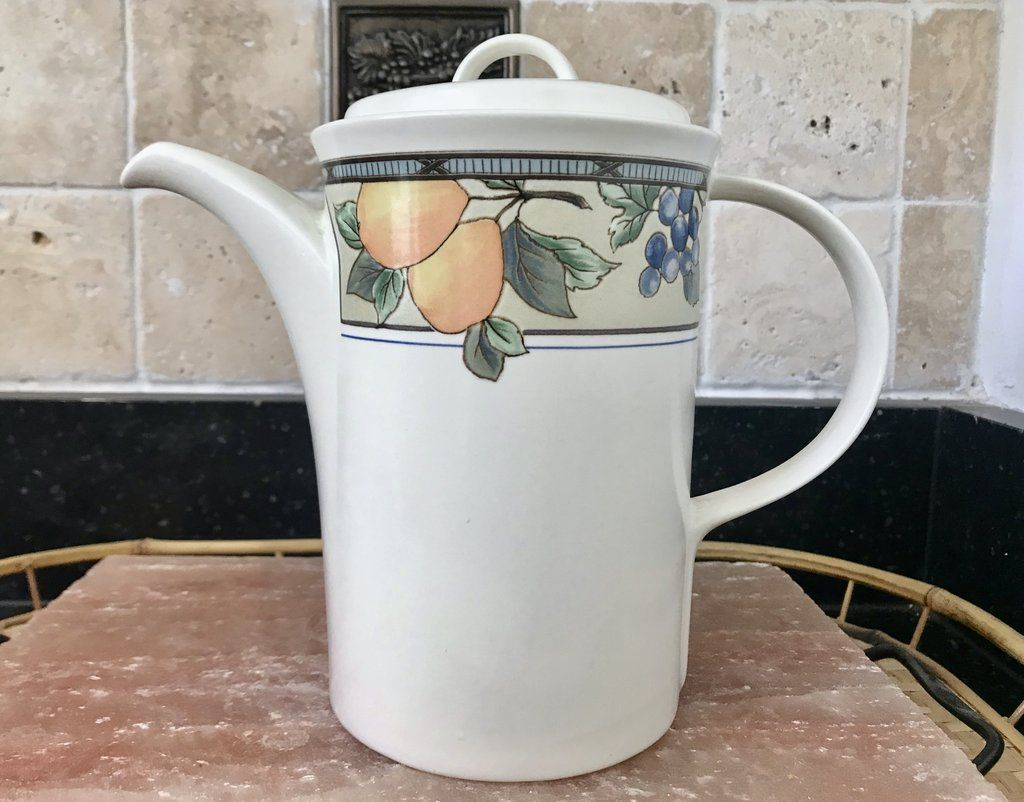 Mikasa Intaglio Cac29 Garden Harvest 5 Cup Coffee Pot Coffee Pot Tea Pots Vintage Tea Pots