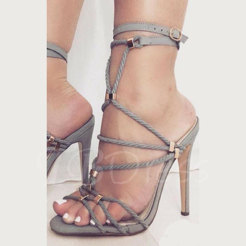 TBDress Strappy Buckle Stiletto Heel