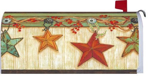 Country Star Mailbox Cover With Bittersweet Vine Adorning The Top Of This Rugged Yet Gorgeous Looking Mailbox Cover Great For Fall But Will Also Mailbox Covers