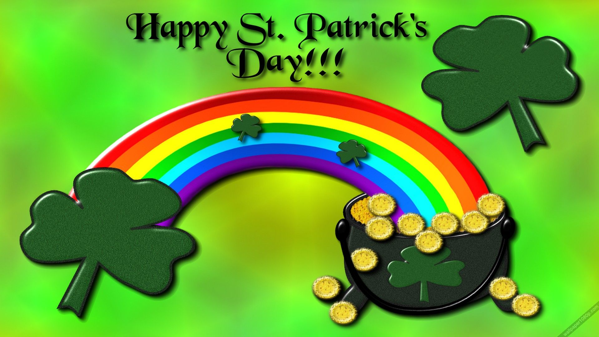 2 Pot Of God St Patrick S Day Wallpaper Hd St Patricks Day Wallpaper St Patricks Day Pictures St Patricks Day Clipart