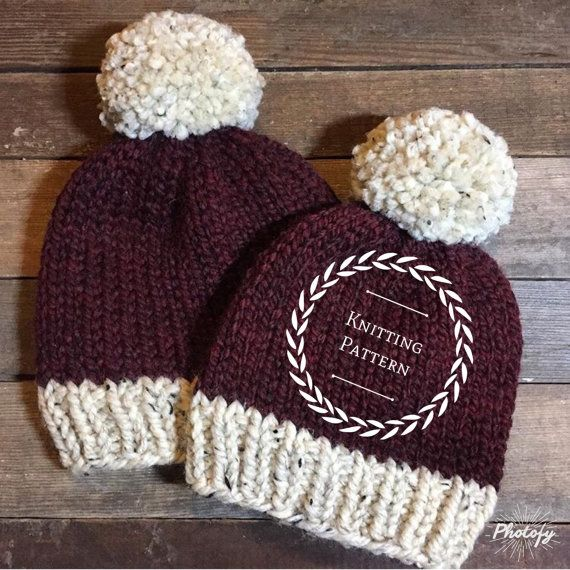 The Creekside Beanie Patternknitting Pattern Knit Pattern Basic