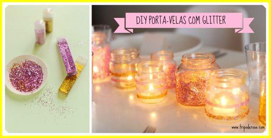 Reaproveitando vidros pequenos para velas