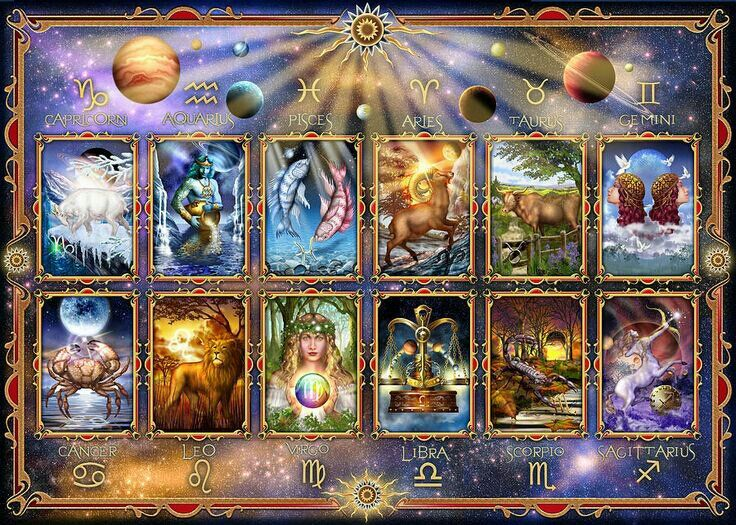 Ciro marchetti art tarot cards astrology art zodiac