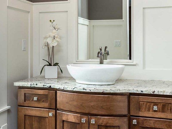 White Ice Granite Countertops Bathroom